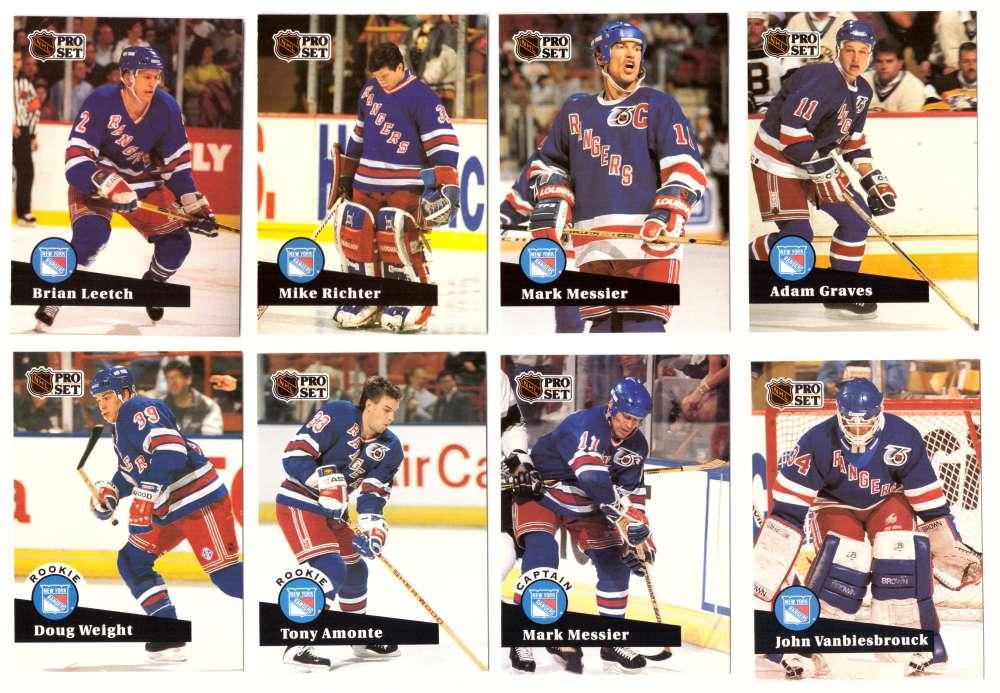 1991-92 Pro Set Hockey Team Set - New York Rangers