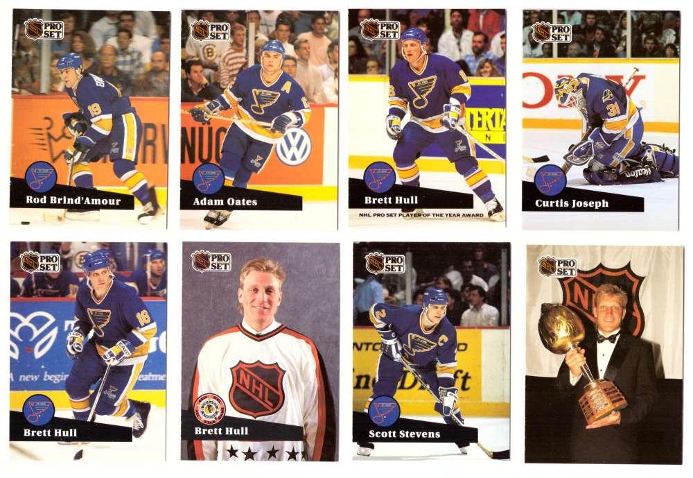 1991-92 Pro Set Hockey Team Set - St. Louis Blues