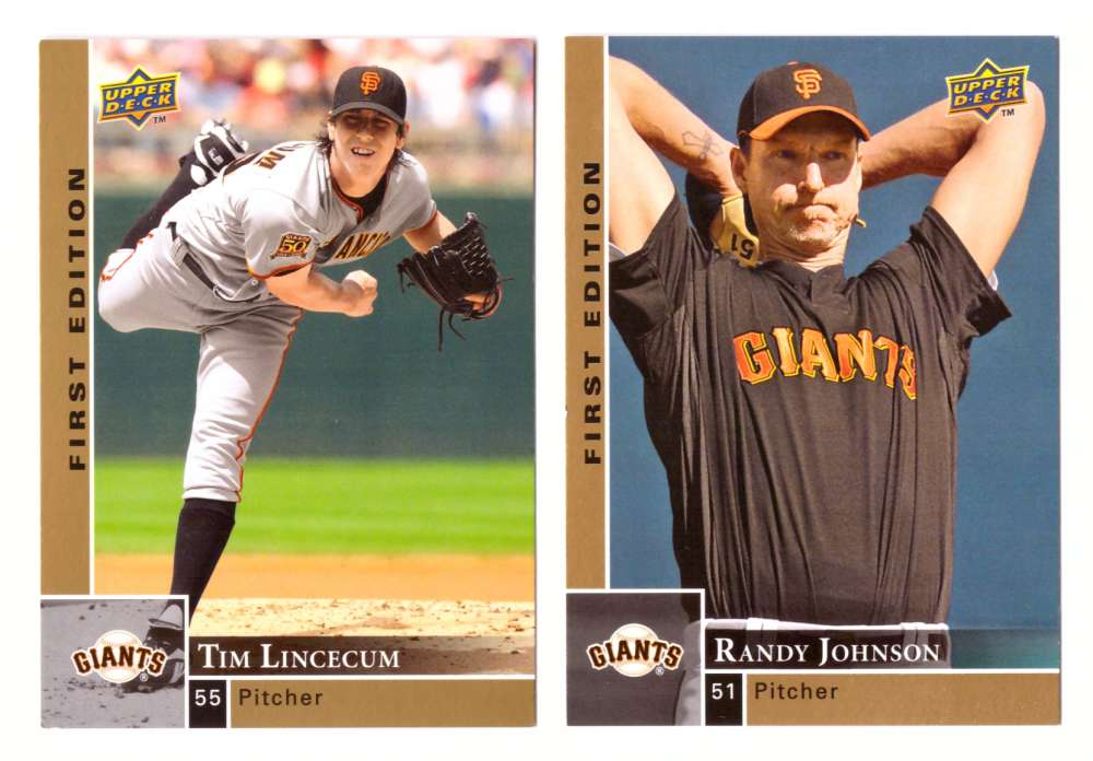 2009 Upper Deck First Edition - SAN FRANCISCO GIANTS Team Set