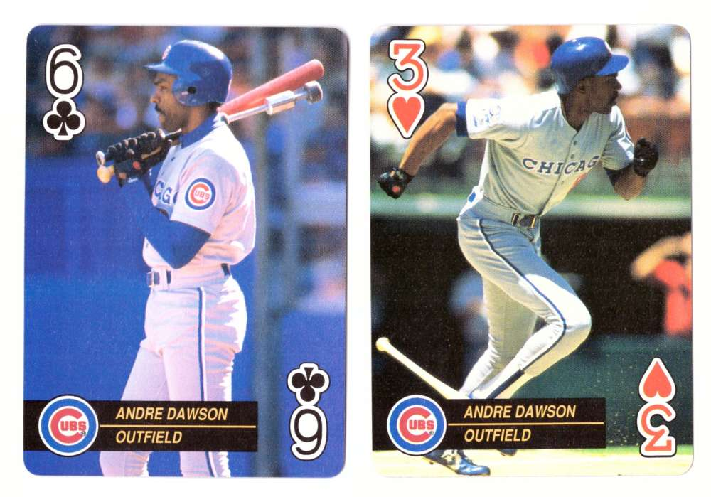 1992 Playing Card Aces - CHICAGO CUBS 2 Cards