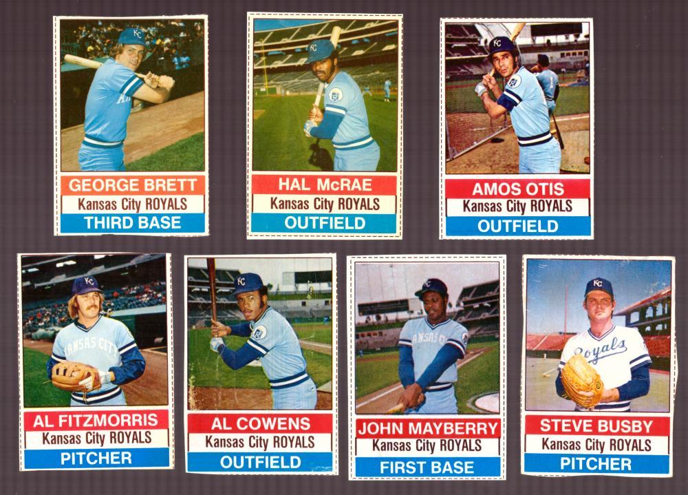 1976 Hostess - KANSAS CITY ROYALS Team Set (A)