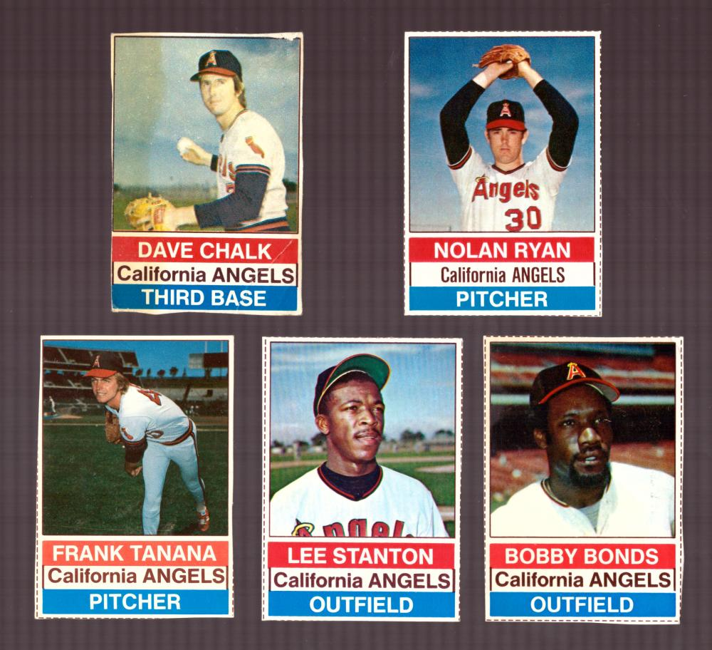 1976 Hostess - CALIFORNIA ANGELS Team set (A)