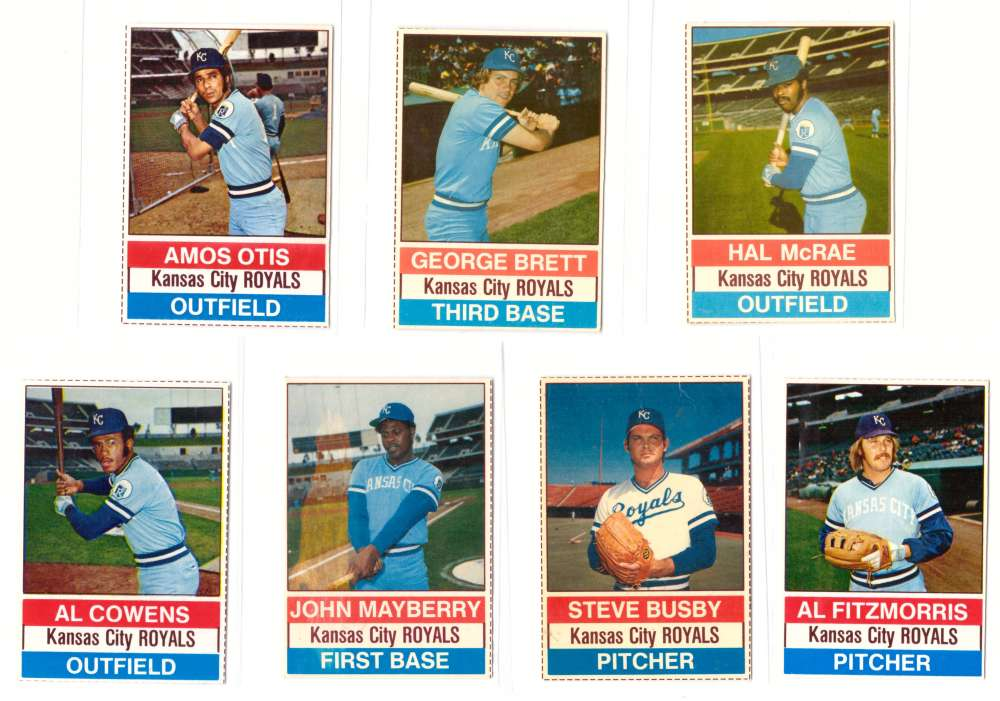 1976 Hostess - KANSAS CITY ROYALS Team Set (B)