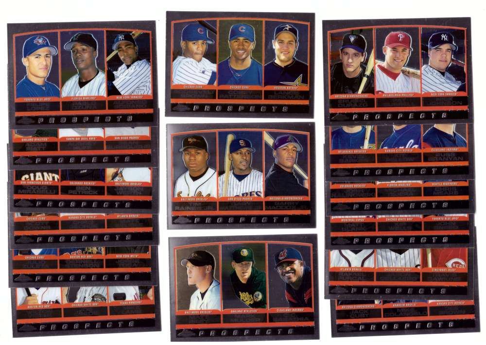 2000 Topps Chorme - Prospects 15 card subset