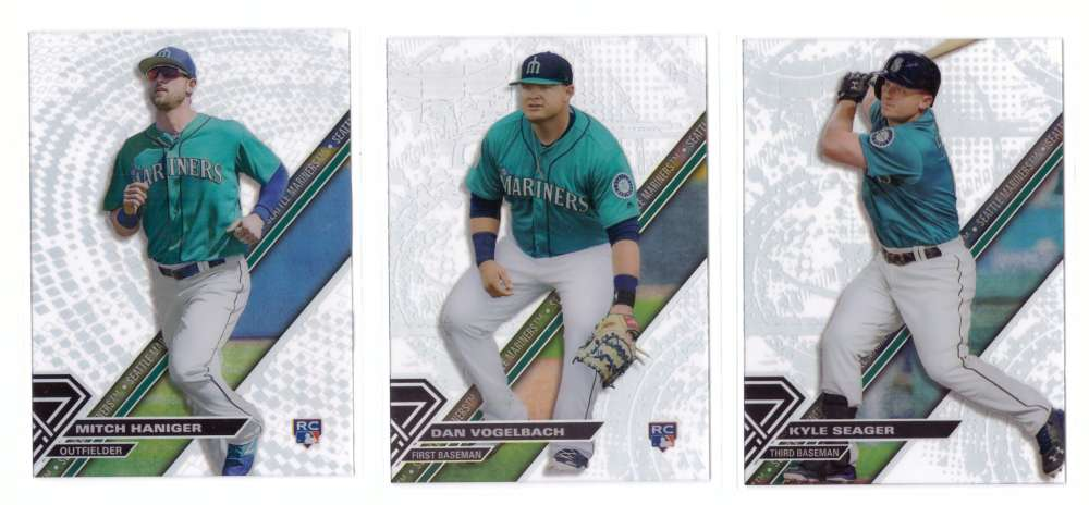 2017 Topps High Tek Pattern 1 Grunge & Pixel Circle - SEATTLE MARINERS
