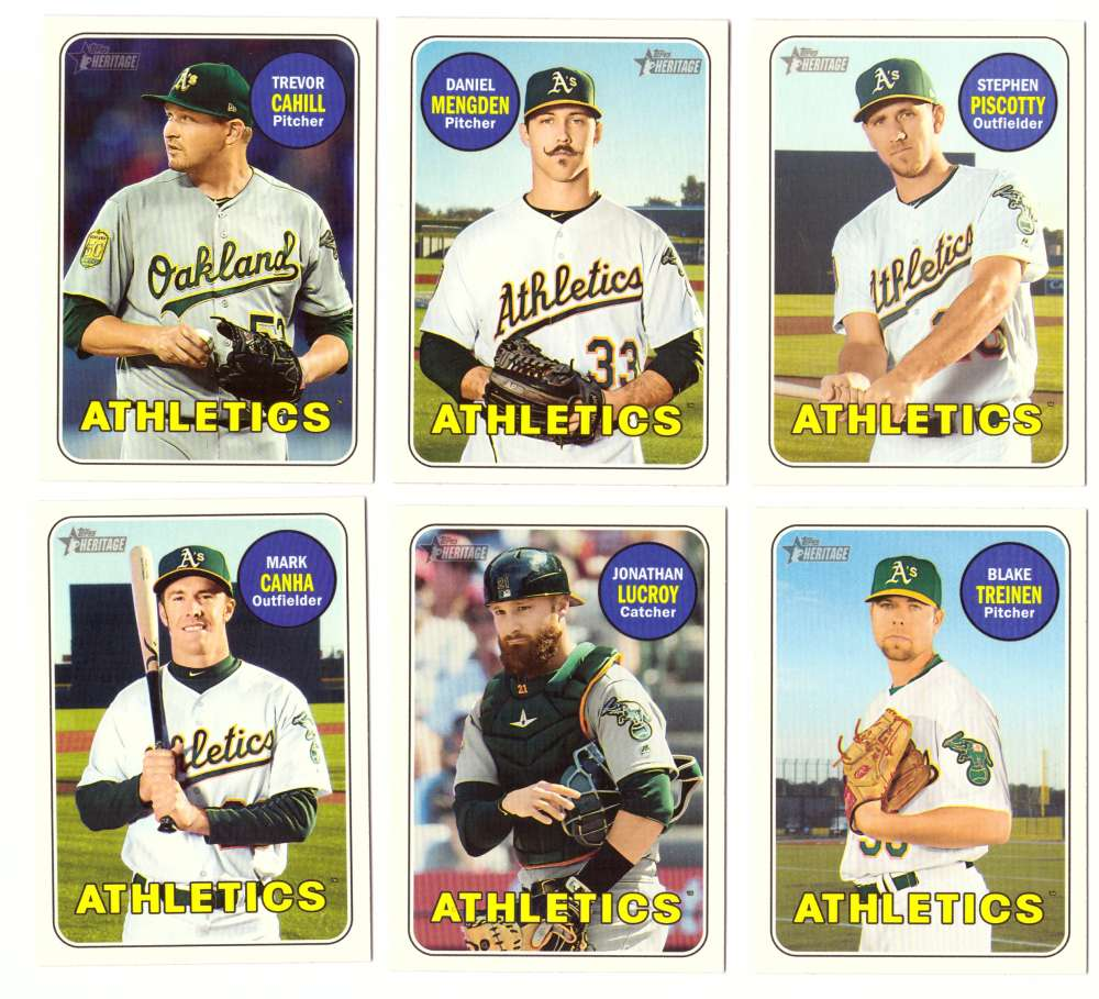 2018 Topps Heritage High Numbers 501-725 - OAKLAND As Team set