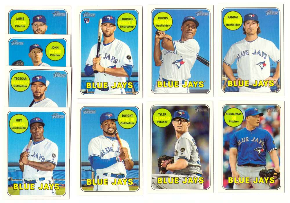 2018 Topps Heritage High Numbers 501-725 - TORONTO BLUE JAYS Team Set