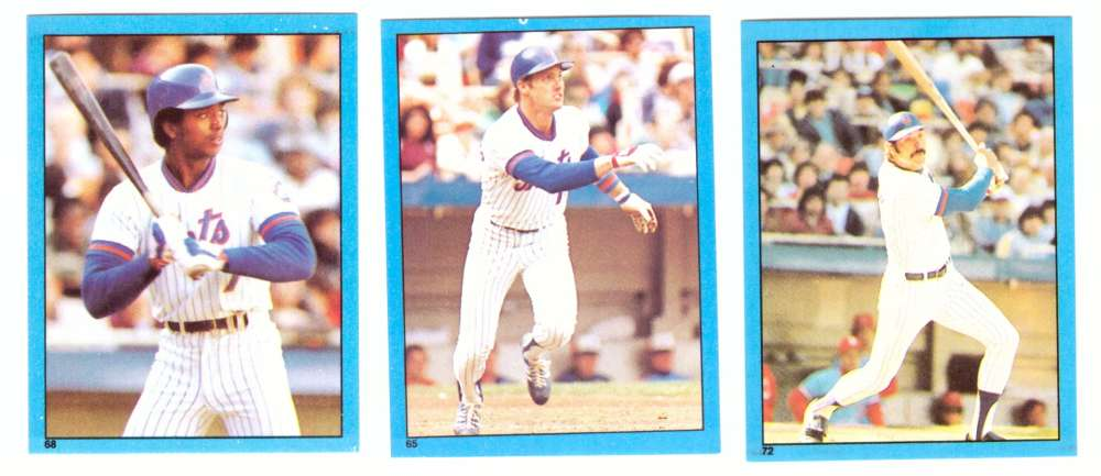 1982 Topps Stickers - NEW YORK METS Team Set
