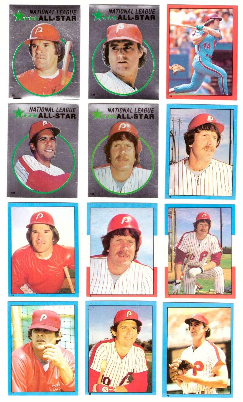 1982 Topps Stickers - PHILADELPHIA PHILLIES Team Set