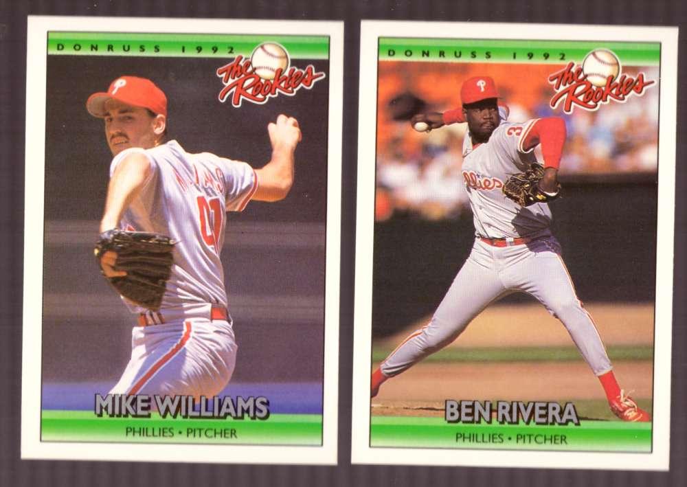 1992 Donruss Rookies PHILADELPHIA PHILLIES Team Set