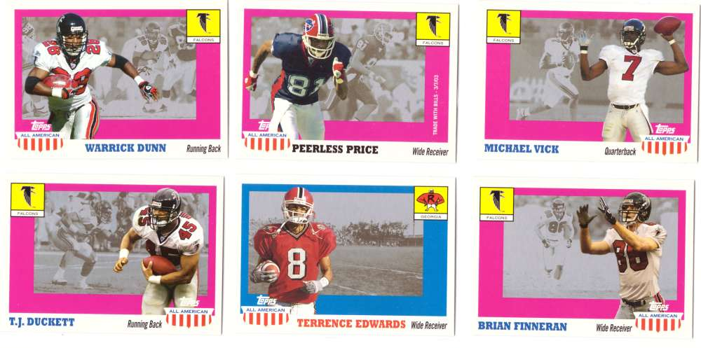 2003 Topps All American Football (w/SP's) - ATLANTA FALCONS