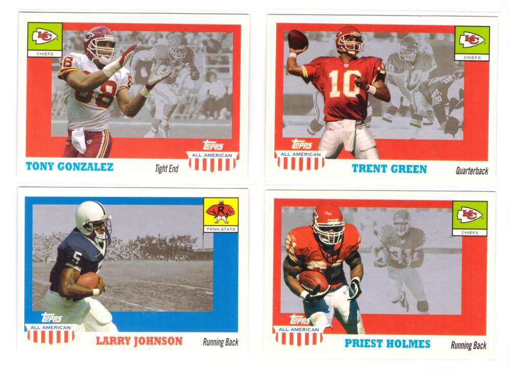 2003 Topps All American Football (w/SP's) - KANSAS CITY CHIEFS
