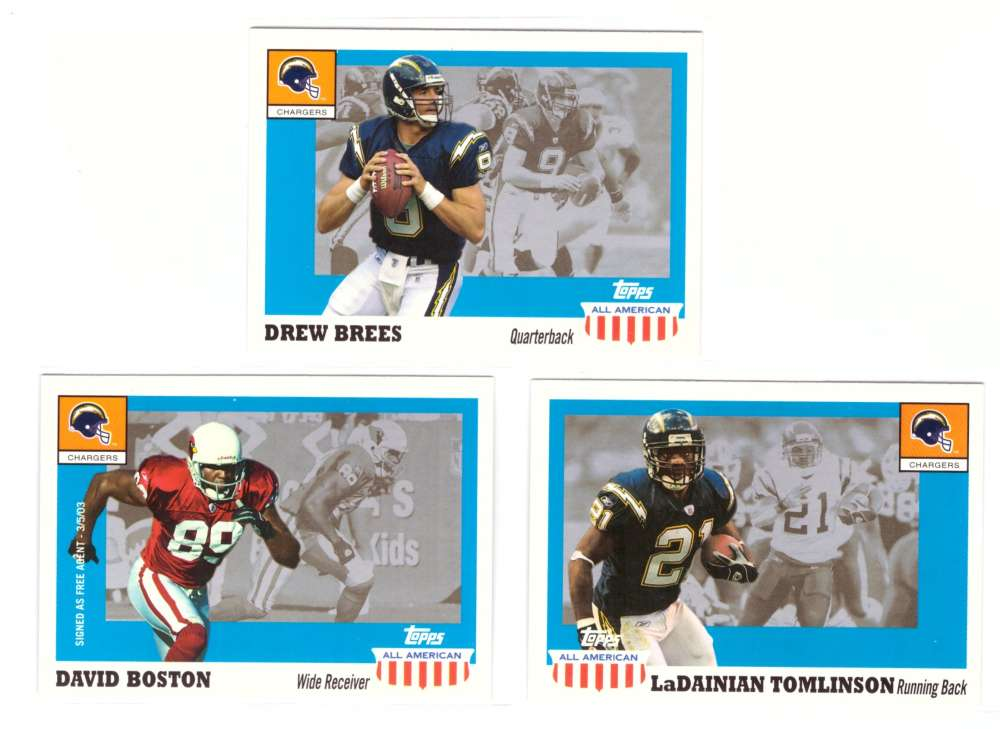 2003 Topps All American Football - SAN DIEGO CHARGERS
