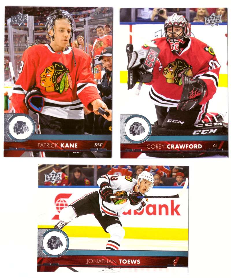 2017-18 Upper Deck Hockey (Base) Team Set - Chicago Blackhawks