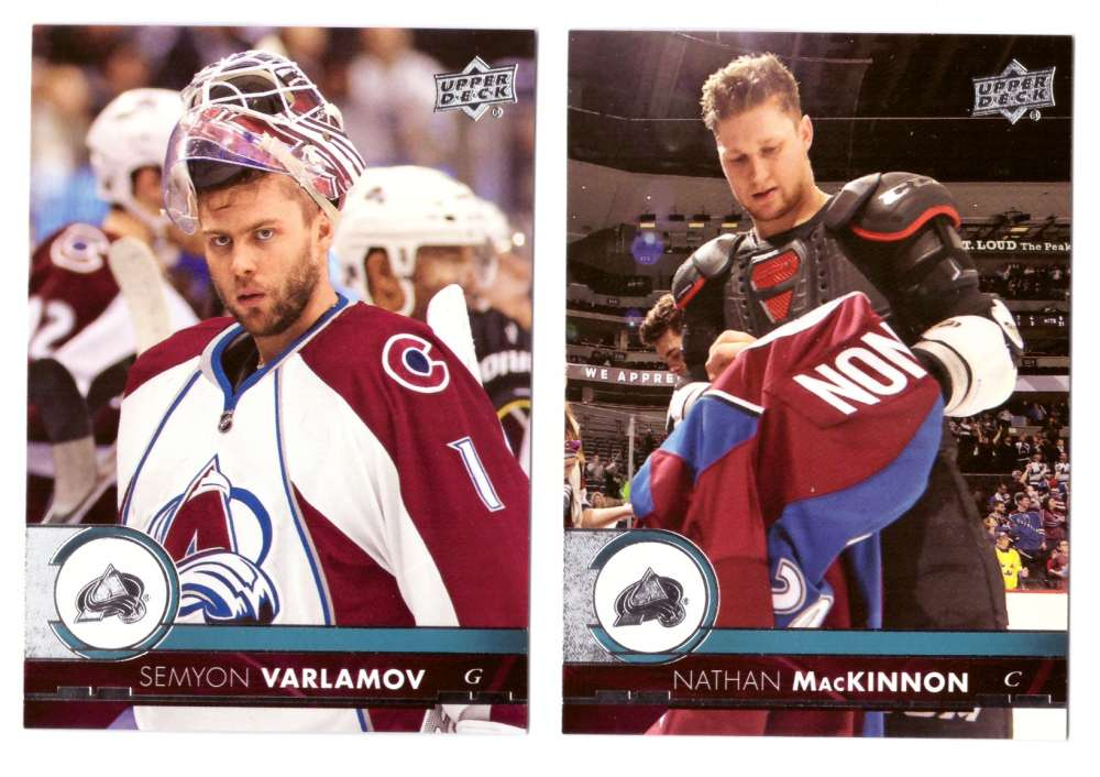 2017-18 Upper Deck Hockey (Base) Team Set - Colorado Avalanche