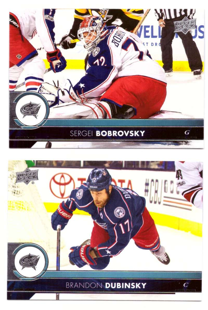 2017-18 Upper Deck Hockey (Base) Team Set - Columbus Blue Jackets