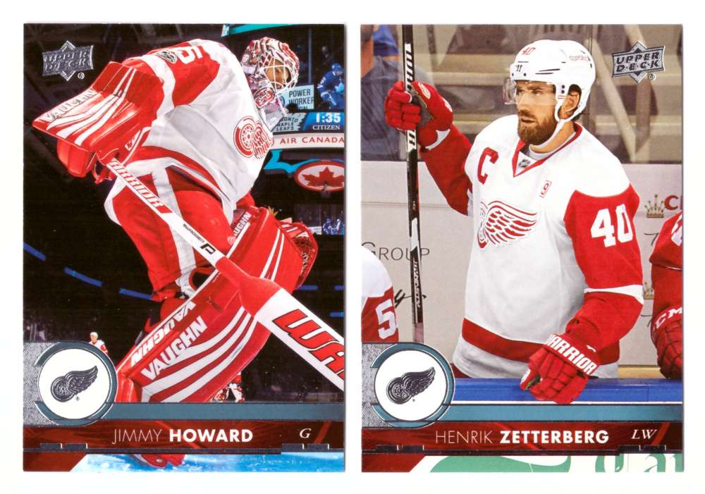 2017-18 Upper Deck Hockey (Base) Team Set - Detroit Red Wings