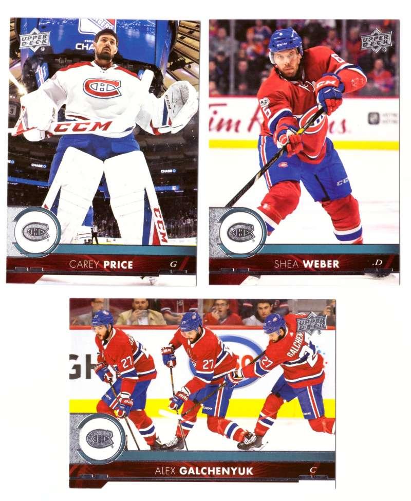 2017-18 Upper Deck Hockey (Base) Team Set - Montreal Canadiens