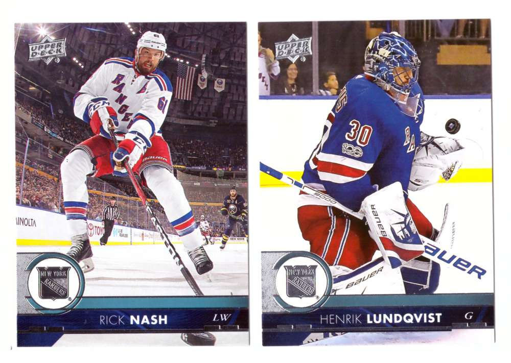 2017-18 Upper Deck Hockey (Base) Team Set - New York Rangers