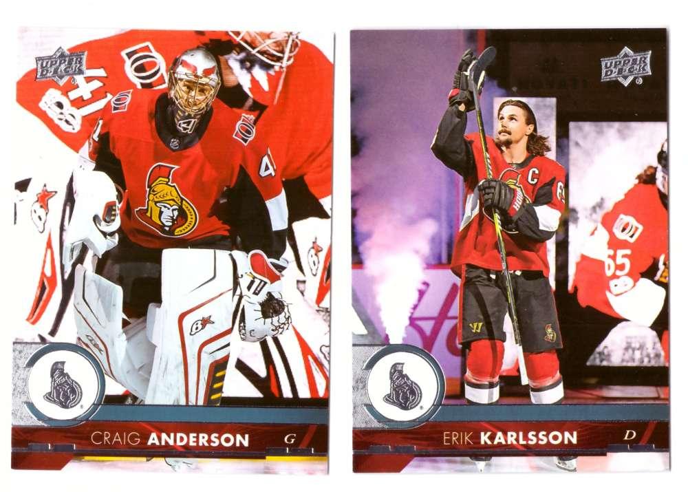 2017-18 Upper Deck Hockey (Base) Team Set - Ottawa Senators