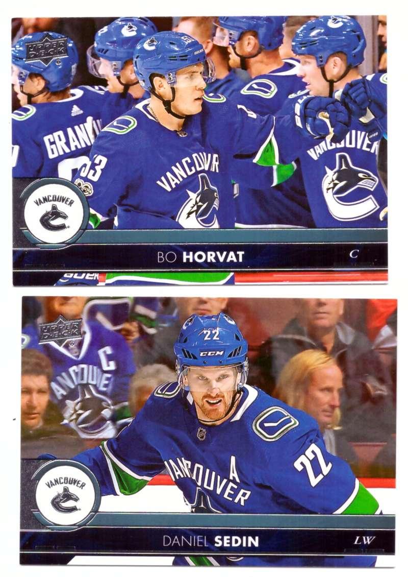 2017-18 Upper Deck Hockey (Base) Team Set - Vancouver Canucks