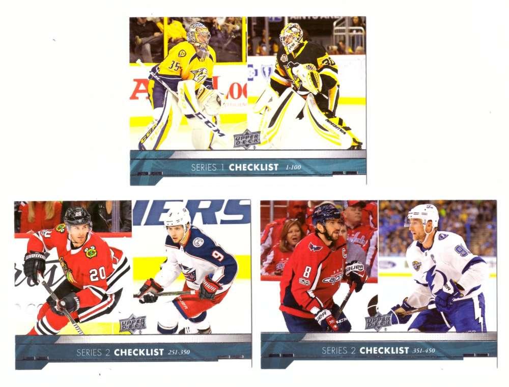2017-18 Upper Deck Hockey (Base) Team Set - Checklist 3 card lot