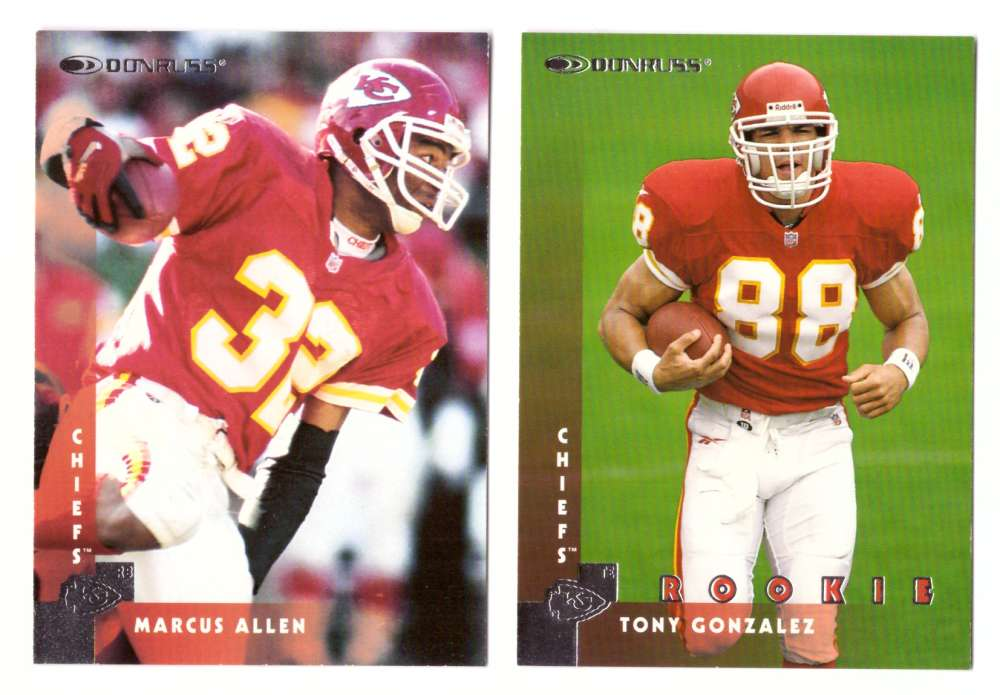 1997 Donruss Football Team Set - KANSAS CITY CHIEFS