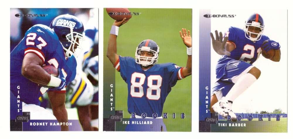 1997 Donruss Football Team Set - NEW YORK GIANTS