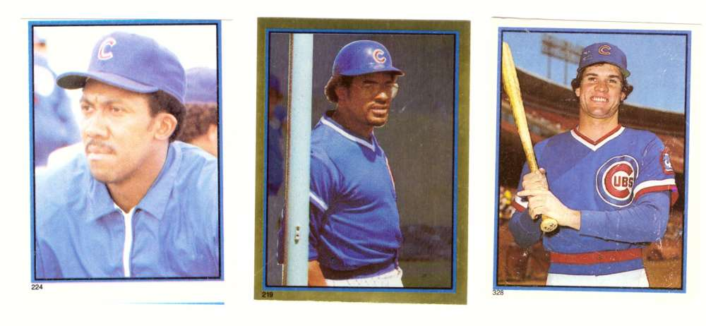 1983 Topps Stickers - CHICAGO CUBS Team Set