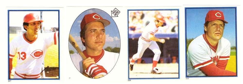 1983 Topps Stickers - CINCINNATI REDS Team Set