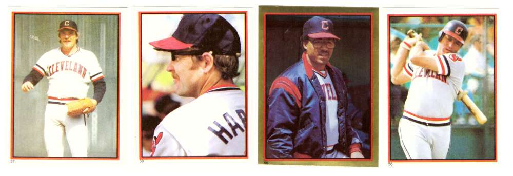 1983 Topps Stickers - CLEVELAND INDIANS Team Set