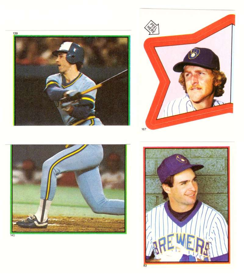 1983 Topps Stickers - MILWAUKEE BREWERS Near Set - Yount Foil