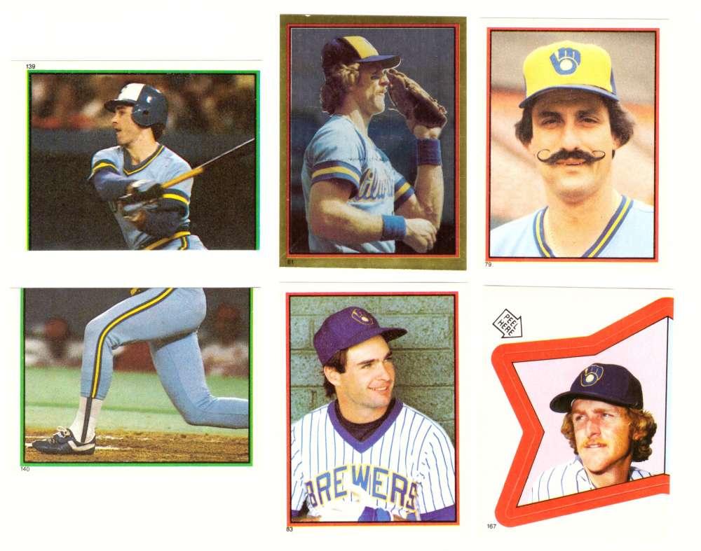 1983 Topps Stickers - MILWAUKEE BREWERS Team Set