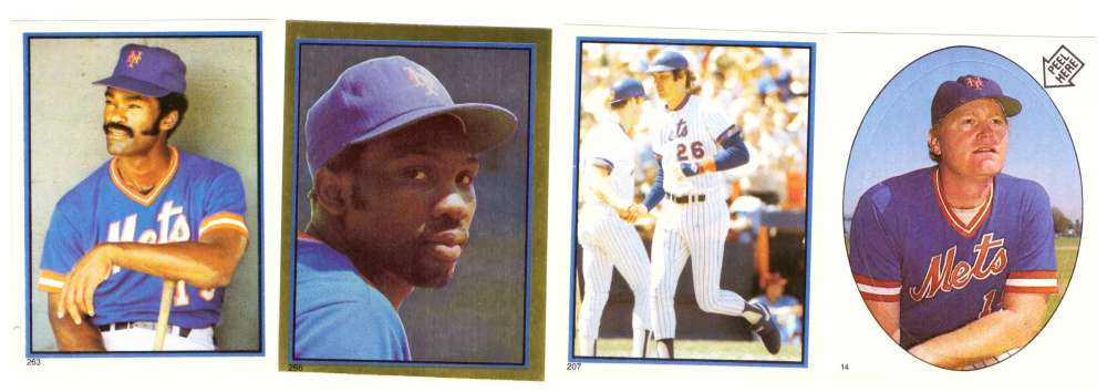 1983 Topps Stickers - NEW YORK METS Team Set