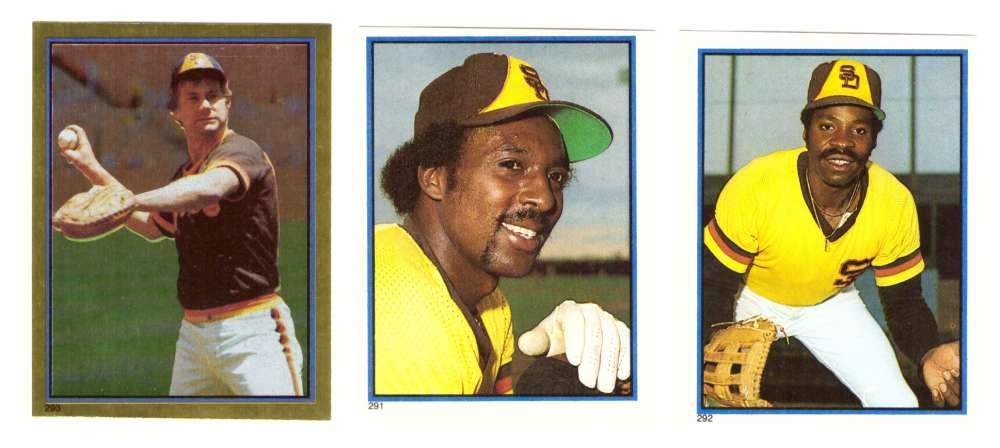 1983 Topps Stickers - SAN DIEGO PADRES Team Set