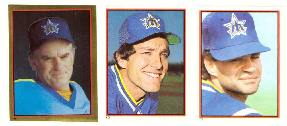 1983 Topps Stickers - SEATTLE MARINERS Team Set