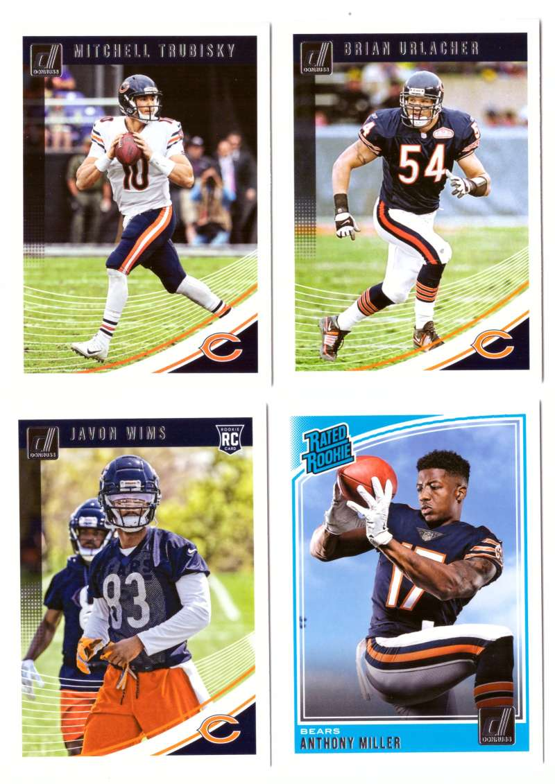 2018 Donruss Football Team Set - CHICAGO BEARS