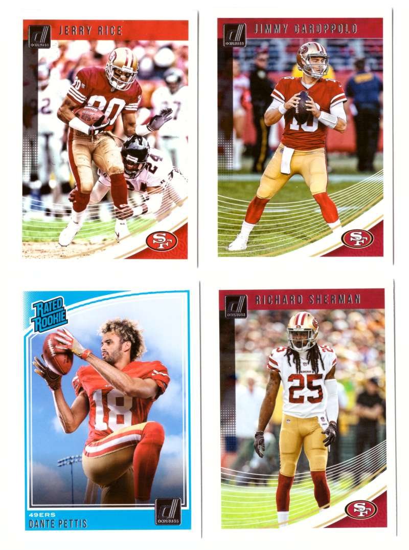 2018 Donruss Football Team Set - SAN FRANCISCO 49ERS