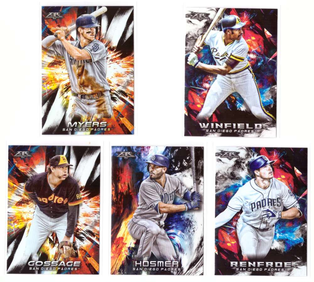 2018 Topps Fire - SAN DIEGO PADRES Team Set