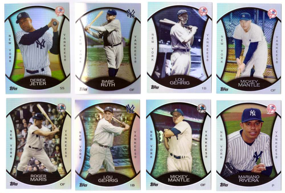 2010 Topps Legends Platinum Chrome Wal-Mart Cereal - NEW YORK YANKEES