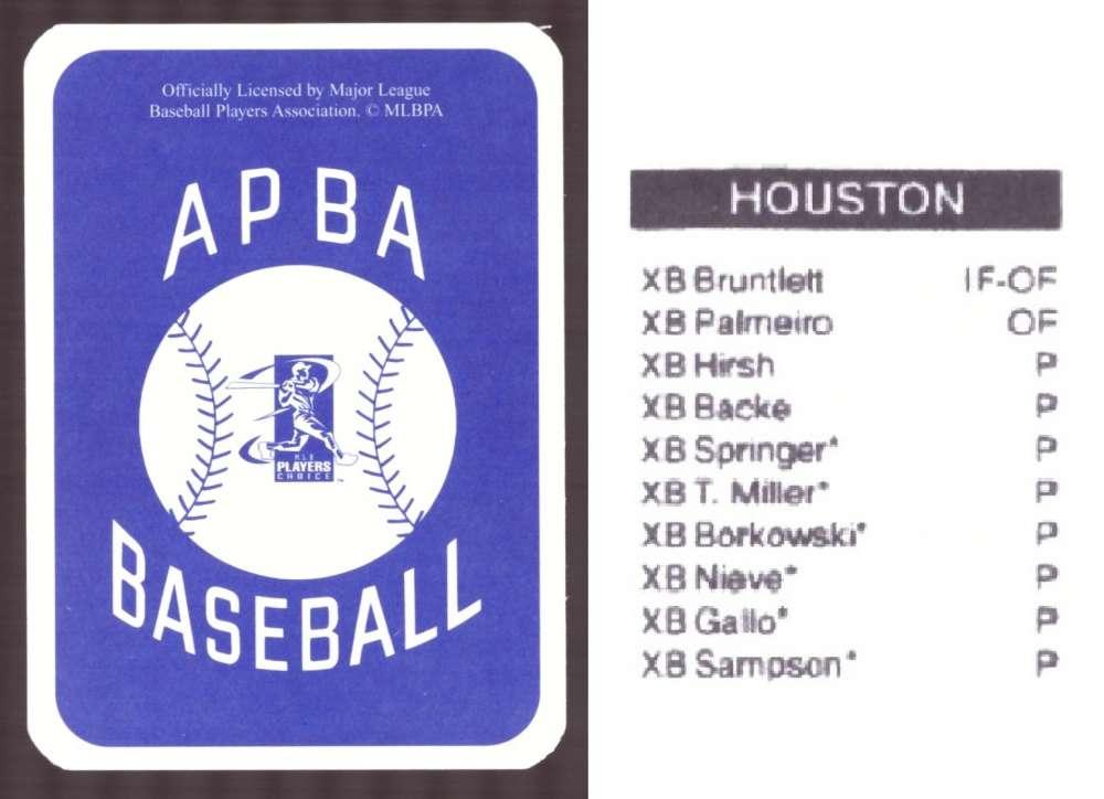 2006 APBA Season XB Player 10 cards - HOUSTON ASTROS Team Set