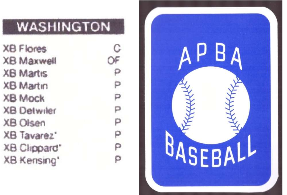 2009 APBA Season XB Player 10 cards - WASHINGTON NATIONALS Team Set