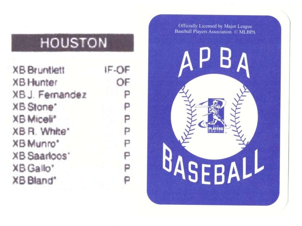 2003 APBA Season XB Player 10 cards - HOUSTON ASTROS Team Set