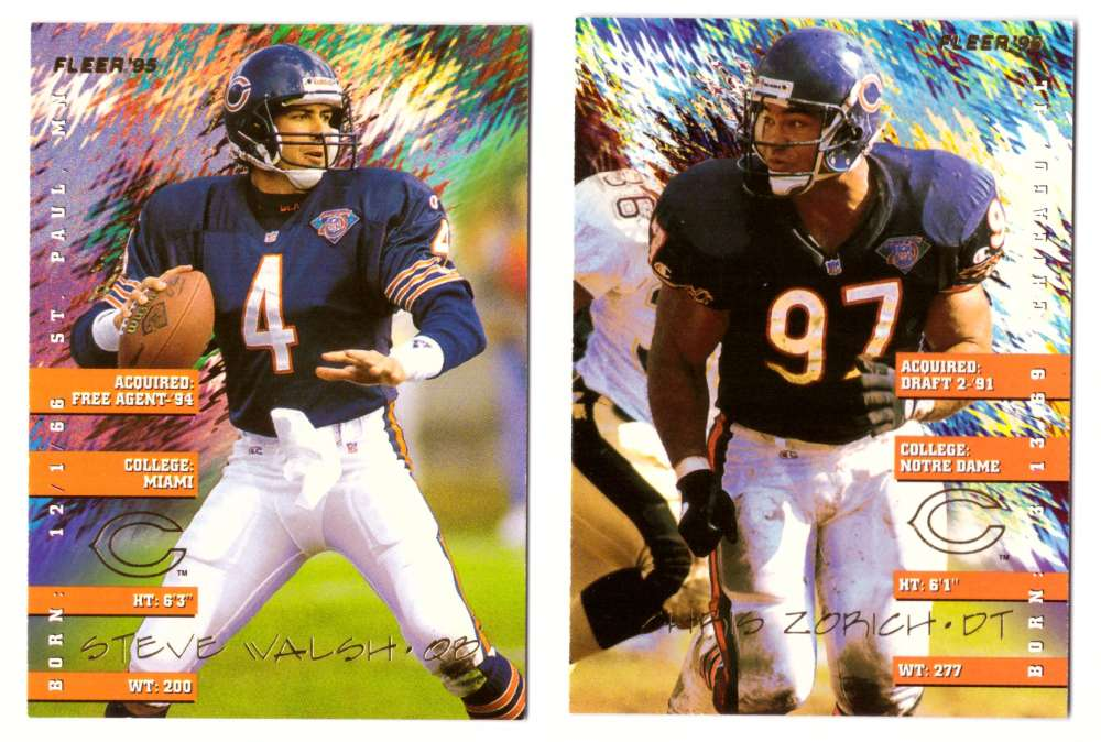 1995 Fleer Football Team Set - CHICAGO BEARS