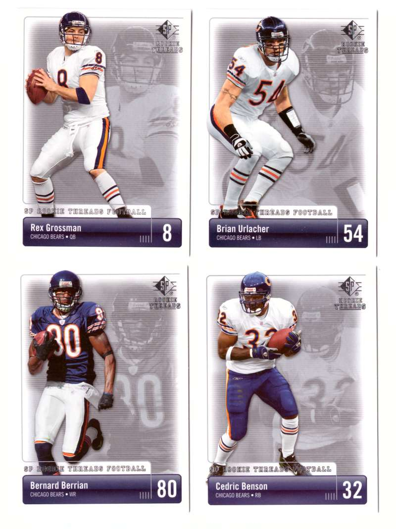 2007 SP Rookie Threads Football (Base) - CHICAGO BEARS