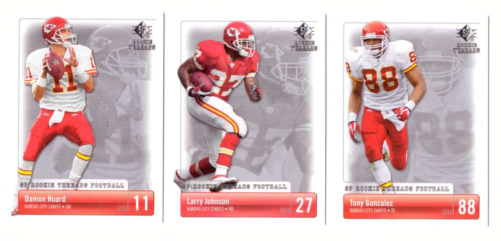 2007 SP Rookie Threads Football (Base) - KANSAS CITY CHIEFS