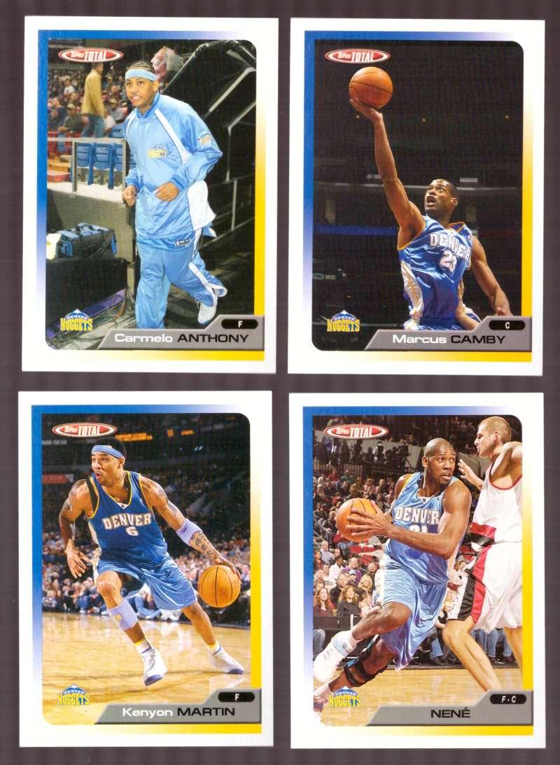 2005-06 Topps Total Basketball Team Set - Denver Nuggets