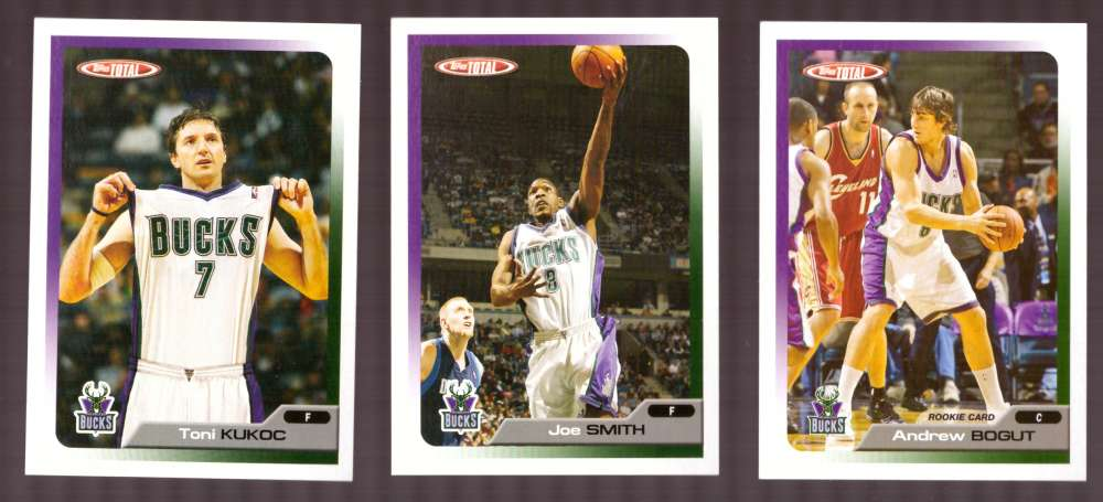 2005-06 Topps Total Basketball Team Set - Milwaukee Bucks
