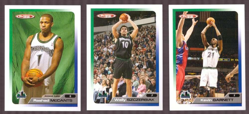 2005-06 Topps Total Basketball Team Set - Minnesota Timberwolves