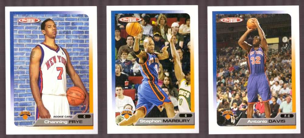 2005-06 Topps Total Basketball Team Set - New York Knicks